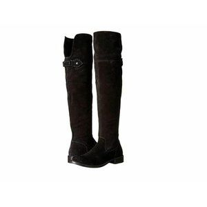 Frye Shirley Over-The-Knee Black Suede Boots
